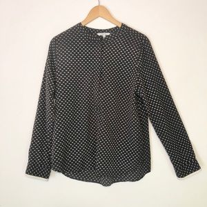 Alfred Sung half zip patterned blouse